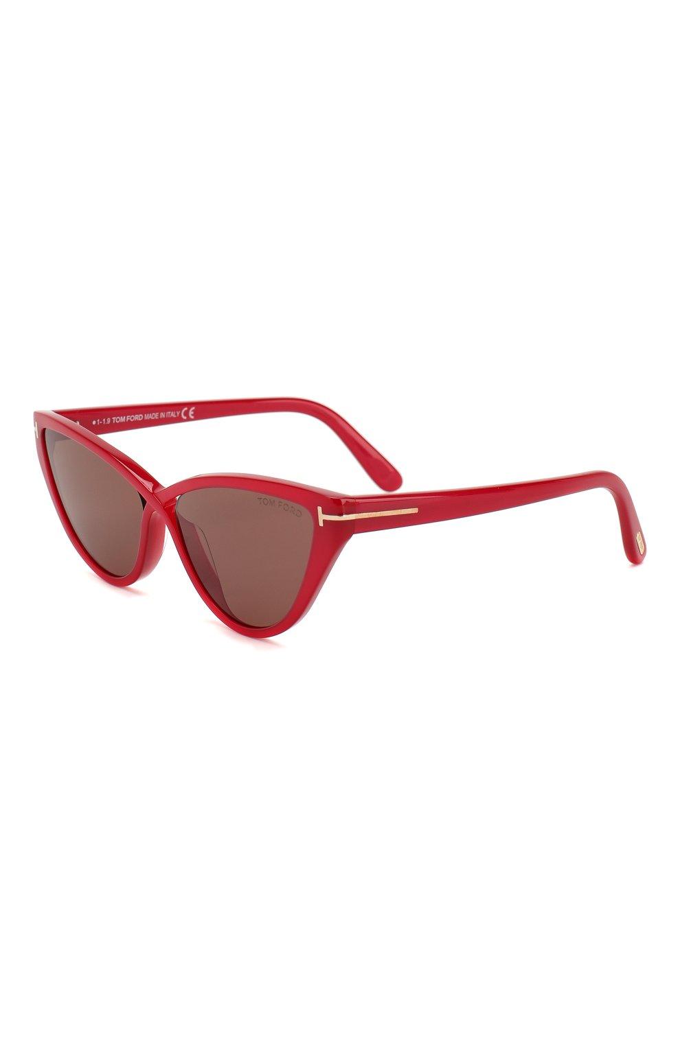 Женские солнцезащитные очки TOM FORD красного цвета, арт. TF740 | Фото 1