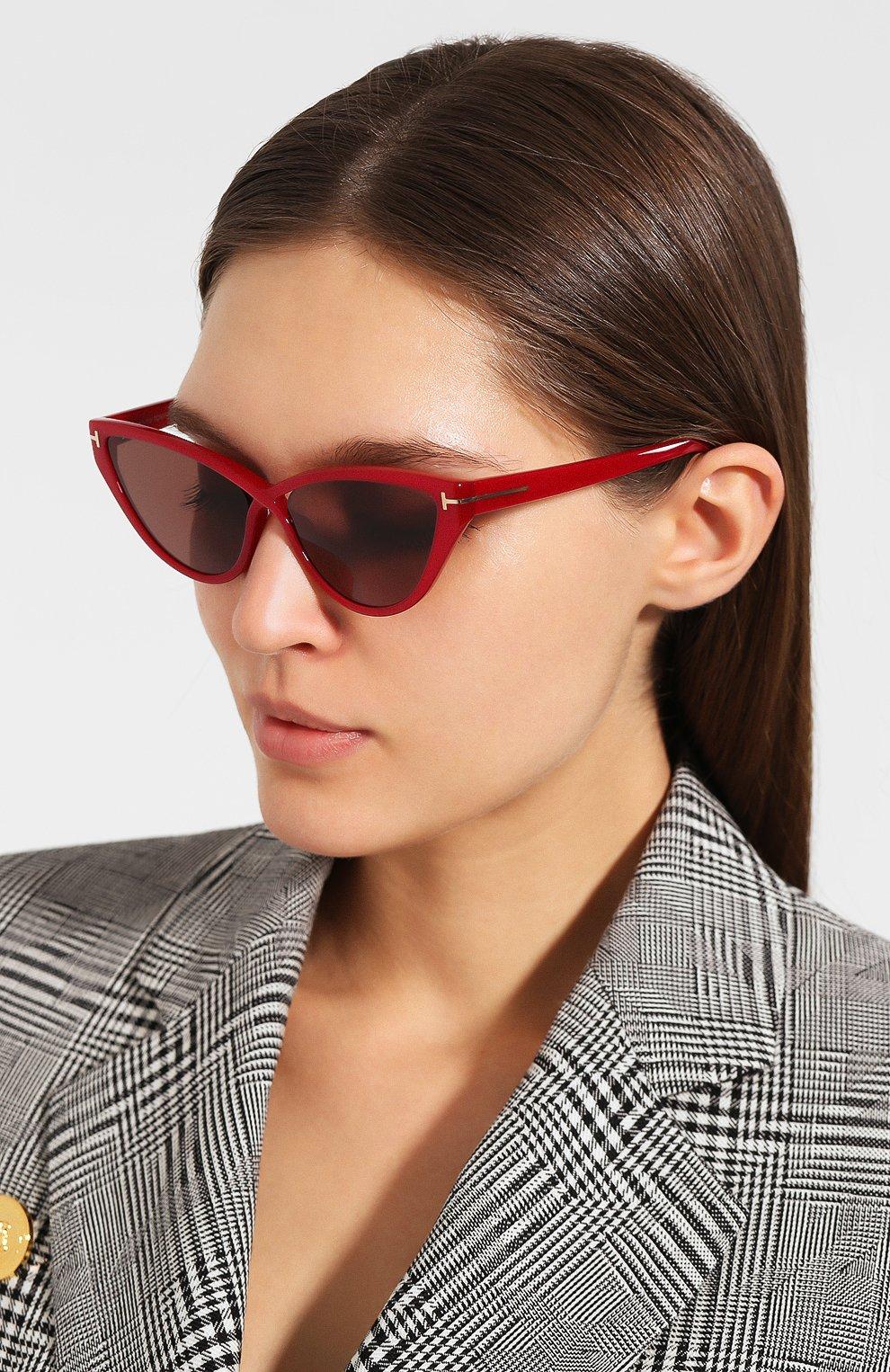 Женские солнцезащитные очки TOM FORD красного цвета, арт. TF740 | Фото 2