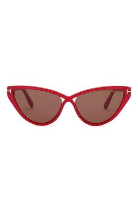 Женские солнцезащитные очки TOM FORD красного цвета, арт. TF740 | Фото 3