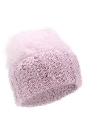 Женский шерстяная шапка aurora BALMUIR светло-розового цвета, арт. AUR0RA KID M0HAIR BEANIE | Фото 1