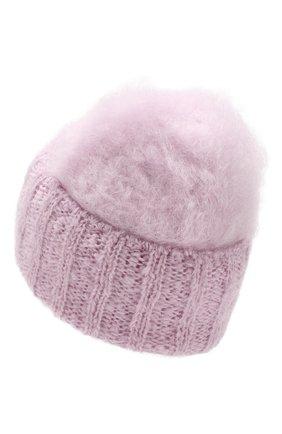 Женский шерстяная шапка aurora BALMUIR светло-розового цвета, арт. AUR0RA KID M0HAIR BEANIE | Фото 2