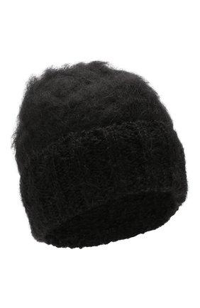 Женский шерстяная шапка aurora BALMUIR черного цвета, арт. AUR0RA KID M0HAIR BEANIE | Фото 1