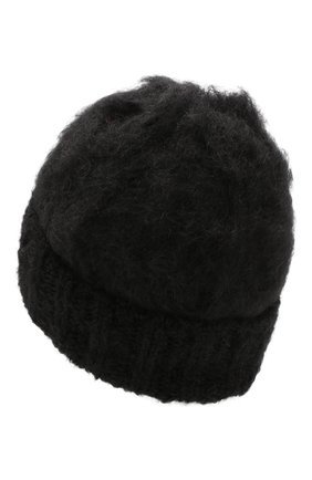 Женский шерстяная шапка aurora BALMUIR черного цвета, арт. AUR0RA KID M0HAIR BEANIE | Фото 2
