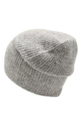 Женский шерстяная шапка grace BALMUIR серого цвета, арт. GRACE BEANIE/MELANGE | Фото 2