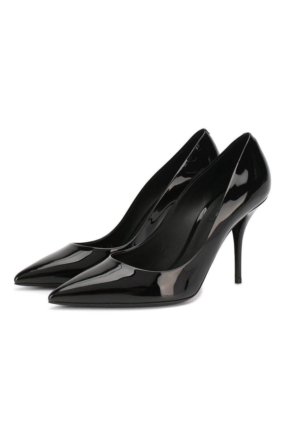 Женские кожаные туфли cardinale DOLCE & GABBANA черного цвета, арт. CD1495/A1471 | Фото 1