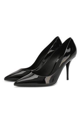 Женская кожаные туфли cardinale DOLCE & GABBANA черного цвета, арт. CD1495/A1471 | Фото 1