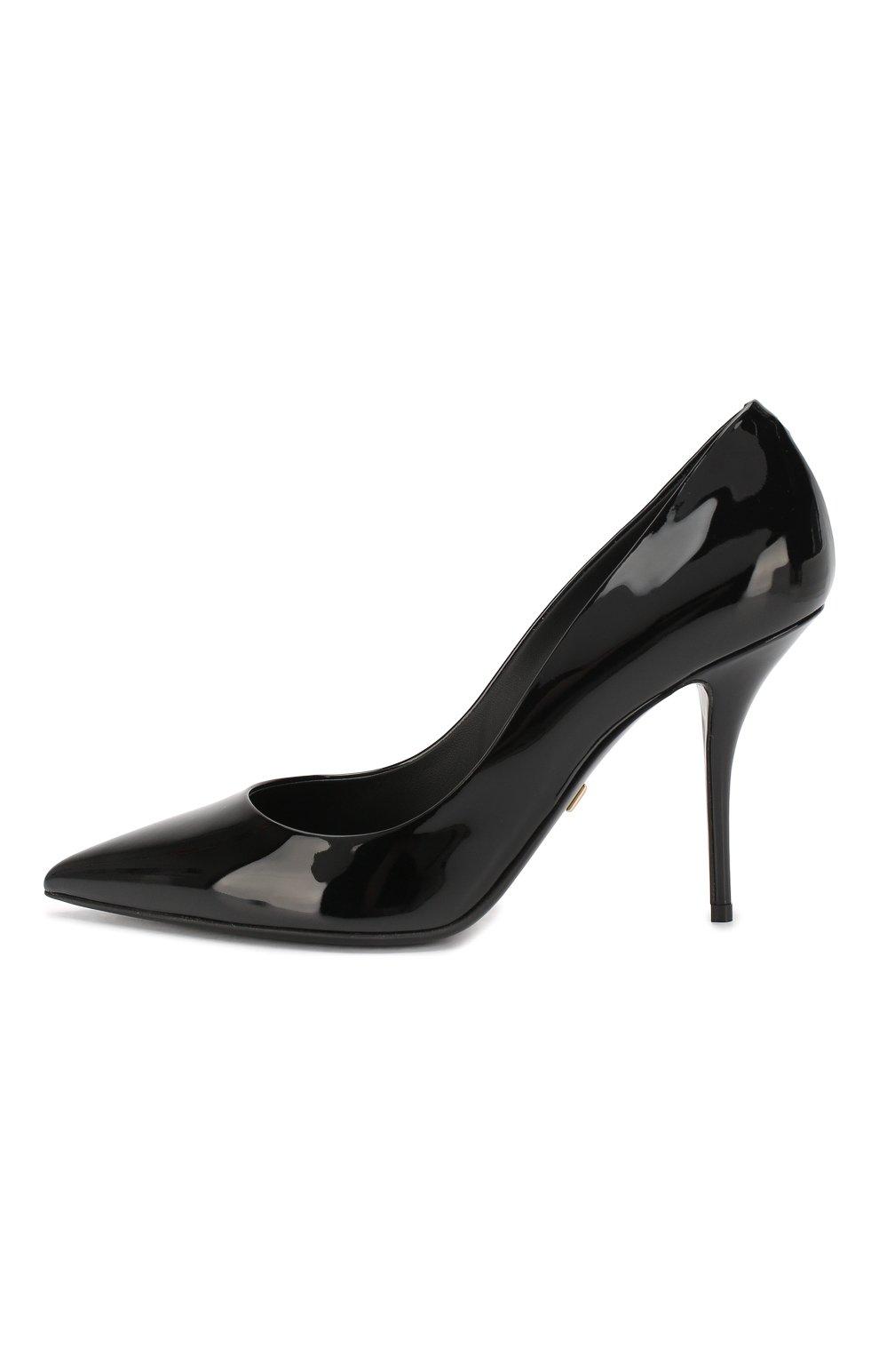 Женские кожаные туфли cardinale DOLCE & GABBANA черного цвета, арт. CD1495/A1471 | Фото 3