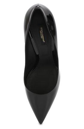 Женские кожаные туфли cardinale DOLCE & GABBANA черного цвета, арт. CD1495/A1471 | Фото 5