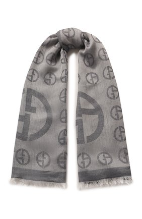 Женский платок GIORGIO ARMANI серого цвета, арт. 795301/0P121 | Фото 1