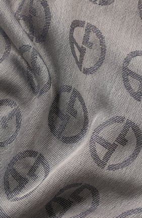 Женский платок GIORGIO ARMANI серого цвета, арт. 795301/0P121 | Фото 2