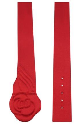 Женский текстильный пояс GIORGIO ARMANI красного цвета, арт. Y1I201/YFP5Y | Фото 2