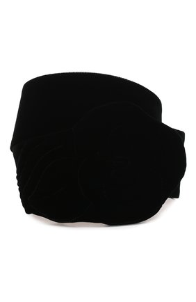 Женский текстильный пояс GIORGIO ARMANI черного цвета, арт. Y1I201/YFP6Y | Фото 1
