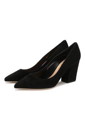 Женская замшевые туфли SERGIO ROSSI черного цвета, арт. A85320-MCAZ01 | Фото 1