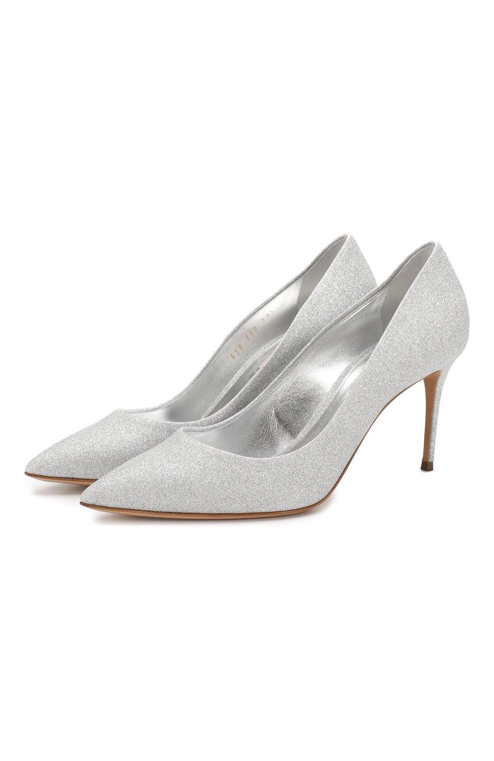 Женские туфли CASADEI серебряного цвета, арт. 1F120D0801CITYL9700 | Фото 1