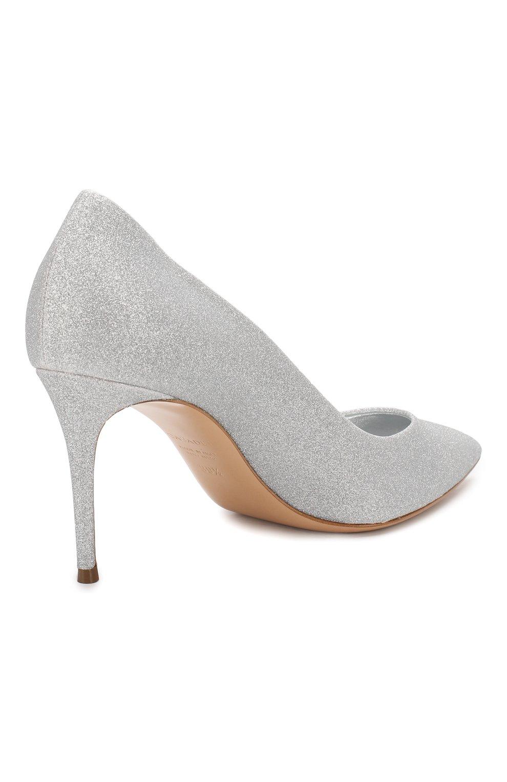 Женские туфли CASADEI серебряного цвета, арт. 1F120D0801CITYL9700 | Фото 4