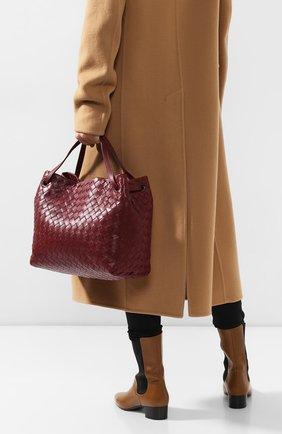 Женская сумка-тоут BOTTEGA VENETA бордового цвета, арт. 600510/VCPP1 | Фото 2