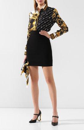 Женская кожаные туфли lori DOLCE & GABBANA черного цвета, арт. CD1476/AV967 | Фото 2