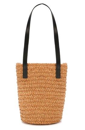 Женская сумка panier small SAINT LAURENT бежевого цвета, арт. 579518/GQTHJ   Фото 1