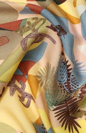 Женский платок sonora из смеси кашемира и шелка LORO PIANA желтого цвета, арт. FAI9833 | Фото 2