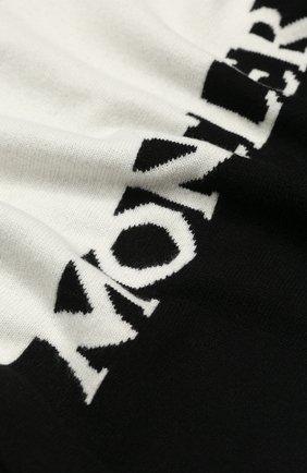 Мужские шарф из смеси шерсти и кашемира MONCLER черно-белого цвета, арт. F1-093-9Z702-00-A9315 | Фото 2