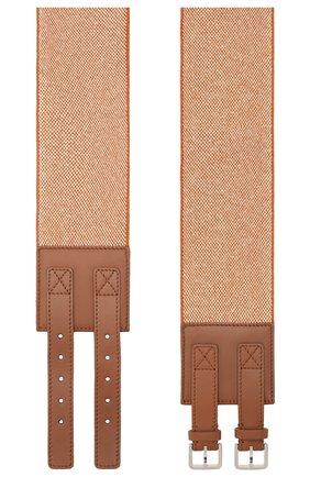 Женский пояс LORO PIANA коричневого цвета, арт. FAL0450 | Фото 2