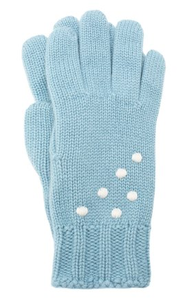 Женские кашемировые перчатки snowy land LORO PIANA голубого цвета, арт. FAL0949 | Фото 1