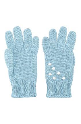 Женские кашемировые перчатки snowy land LORO PIANA голубого цвета, арт. FAL0949 | Фото 2