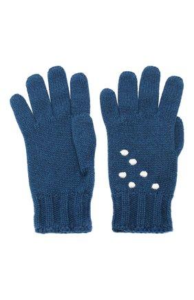 Женские кашемировые перчатки snowy land LORO PIANA темно-синего цвета, арт. FAL0949 | Фото 2