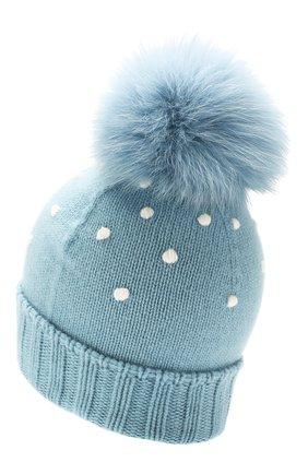 Женский кашемировая шапка snowy land LORO PIANA голубого цвета, арт. FAL0950 | Фото 2