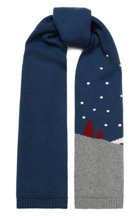 Мужские кашемировый шарф snowy land LORO PIANA серого цвета, арт. FAL0951 | Фото 1