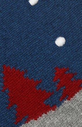 Мужские кашемировый шарф snowy land LORO PIANA серого цвета, арт. FAL0951 | Фото 2
