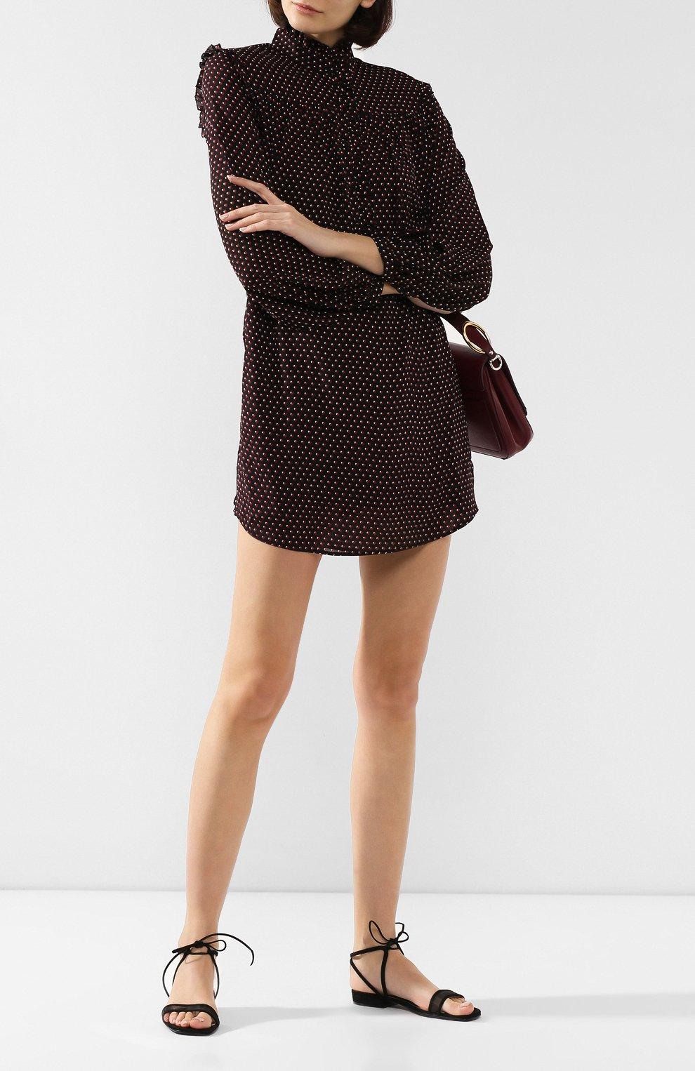 Женские замшевые сандалии SERGIO ROSSI черного цвета, арт. A88410-MAFM46   Фото 2