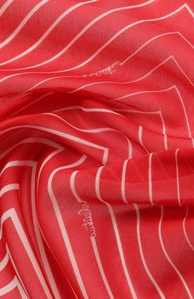 Женское парео из смеси хлопка и шелка VALENTINO красного цвета, арт. TW2EA013/CBV | Фото 2