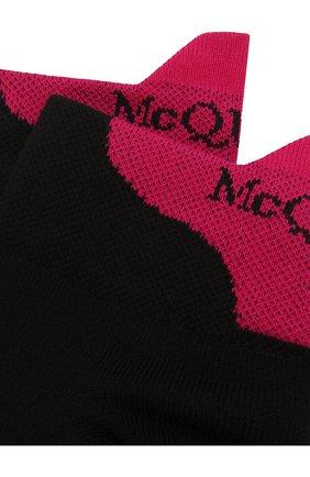 Женские хлопковые носки ALEXANDER MCQUEEN черного цвета, арт. 572016/3C24Q   Фото 2