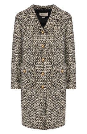 Женское шерстяное пальто GUCCI серого цвета, арт. 609874/ZACCK   Фото 1