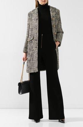Женское шерстяное пальто GUCCI серого цвета, арт. 609874/ZACCK   Фото 2