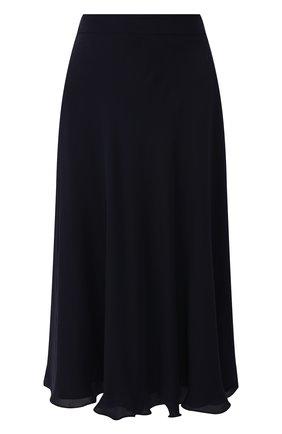 Женская шелковая юбка RALPH LAUREN темно-синего цвета, арт. 290788716 | Фото 1