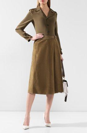 Женская замшевая юбка RALPH LAUREN зеленого цвета, арт. 290790828 | Фото 2