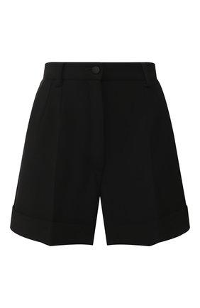 Женские шерстяные шорты DOLCE & GABBANA черного цвета, арт. FTASXT/FUBDY | Фото 1