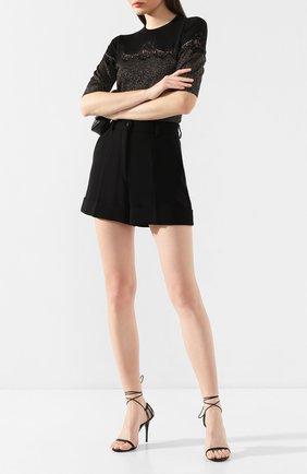Женские шерстяные шорты DOLCE & GABBANA черного цвета, арт. FTASXT/FUBDY | Фото 2