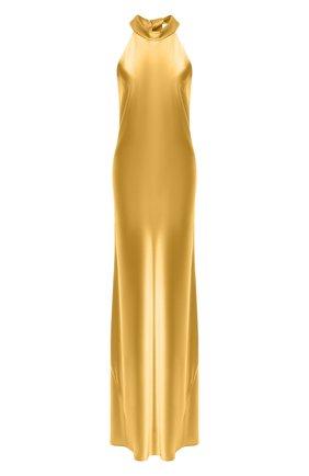 Женское платье-макси GALVAN LONDON желтого цвета, арт. 710B SATIN SIENNA | Фото 1