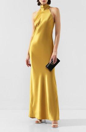 Женское платье-макси GALVAN LONDON желтого цвета, арт. 710B SATIN SIENNA | Фото 2