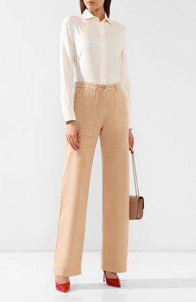 Женские джинсы LORO PIANA бежевого цвета, арт. FAL0315 | Фото 2