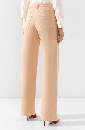 Женские джинсы LORO PIANA бежевого цвета, арт. FAL0315   Фото 4