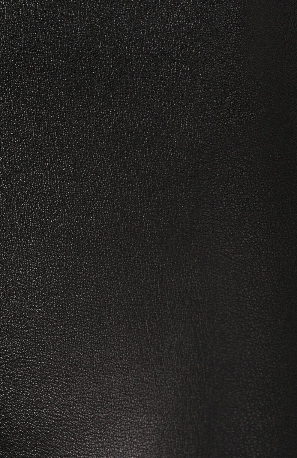 Женские кожаные леггинсы DROME черного цвета, арт. DPD1017P/D1835P | Фото 5 (Длина (брюки, джинсы): Удлиненные, Стандартные; Женское Кросс-КТ: Леггинсы-одежда, Кожаные брюки; Статус проверки: Проверена категория)