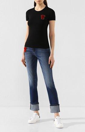 Женские джинсы EMPORIO ARMANI синего цвета, арт. 3H2J81/2D7TZ | Фото 2