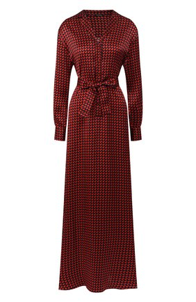 Женское шелковое платье KITON красного цвета, арт. D49313K09S75 | Фото 1