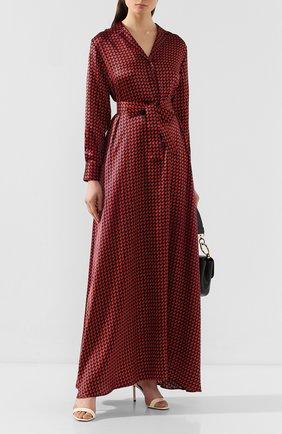 Женское шелковое платье KITON красного цвета, арт. D49313K09S75 | Фото 2