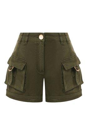 Женские джинсовые шорты BALMAIN хаки цвета, арт. TF15389/C195 | Фото 1
