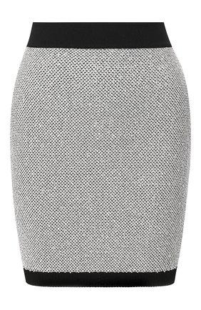 Женская юбка BALMAIN серебряного цвета, арт. TF14007/K049 | Фото 1